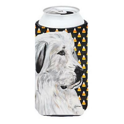 Great Pyrenees Candy Corn Halloween Tall Boy bottle sleeve Hugger 22 To 24 Oz.