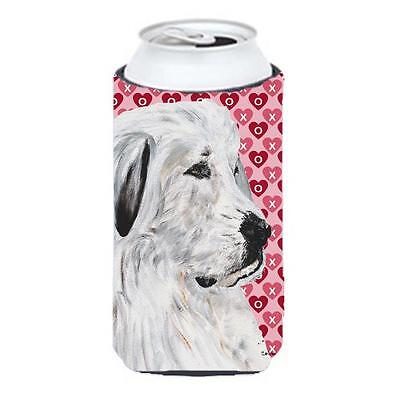 Great Pyrenees Hearts And Love Tall Boy bottle sleeve Hugger 22 To 24 Oz.