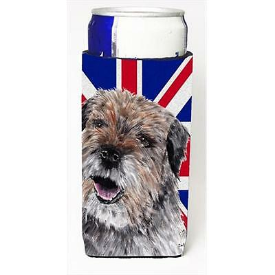 Border Terrier With Engish Union Jack British Flag Michelob Ultra bottle slee...