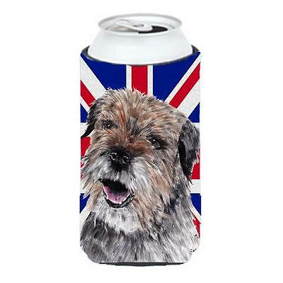 Border Terrier With Engish Union Jack British Flag Tall Boy bottle sleeve Hug...