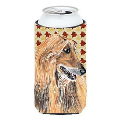 Afghan Hound Fall Leaves Tall Boy bottle sleeve Hugger 22 To 24 Oz.