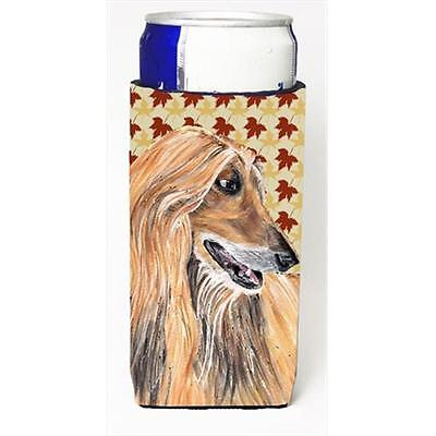 Afghan Hound Fall Leaves Michelob Ultra bottle sleeves For Slim Cans 12 Oz.
