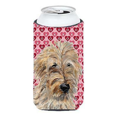 Golden Doodle 2 Hearts And Love Tall Boy bottle sleeve Hugger 22 To 24 Oz.