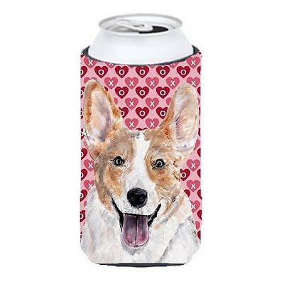 Cardigan Corgi Hearts And Love Tall Boy bottle sleeve Hugger 22 To 24 Oz.