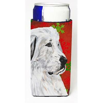 Great Pyrenees Red Snowflakes Holiday Michelob Ultra bottle sleeves Slim Cans...