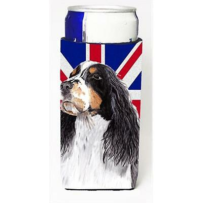 Welsh Springer Spaniel With English Union Jack British Flag Michelob Ultra bo...