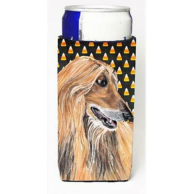 Afghan Hound Candy Corn Halloween Michelob Ultra bottle sleeves For Slim Cans...