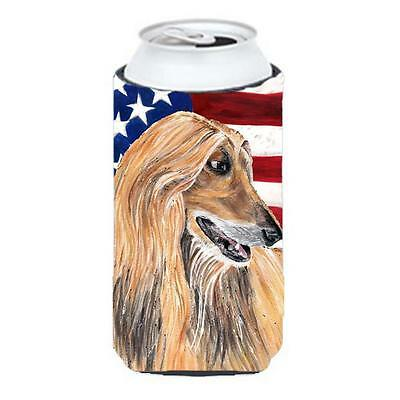 Afghan Hound USA Patriotic American Flag Tall Boy bottle sleeve Hugger 22 To ...