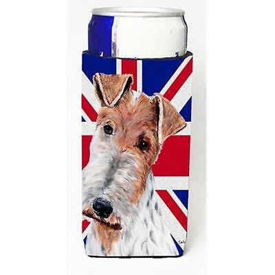 Wire Fox Terrier With English Union Jack British Flag Michelob Ultra bottle s...