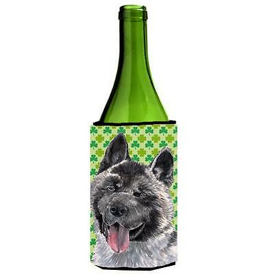 Akita St. Patricks Day Shamrock Wine bottle sleeve Hugger 24 Oz.