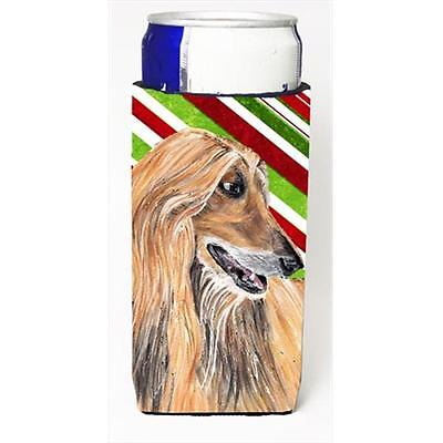 Afghan Hound Candy Cane Holiday Christmas Michelob Ultra bottle sleeves For S...