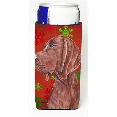 Redbone Coonhound Red Snowflakes Holiday Michelob Ultra bottle sleeves Slim C...