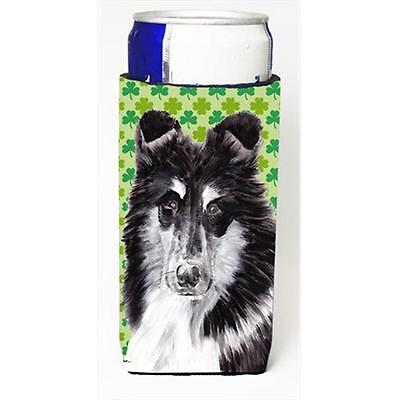 Black And White Collie Lucky Shamrock St. Patricks Day Michelob Ultra bottle ...