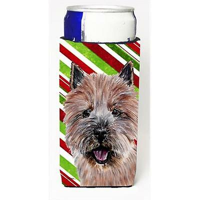 Norwich Terrier Candy Cane Christmas Michelob Ultra bottle sleeves Slim Cans ...