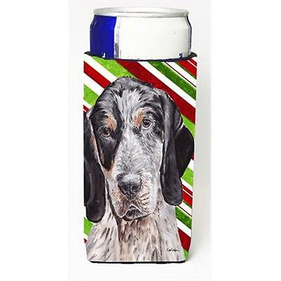 Blue Tick Coonhound Candy Cane Christmas Michelob Ultra bottle sleeves Slim C...