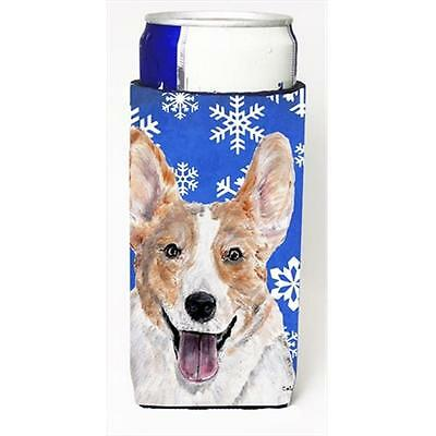 Cardigan Corgi Winter Snowflakes Michelob Ultra bottle sleeves Slim Cans 12 Oz.