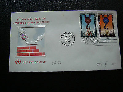 NATIONS-UNIES (new-york) - enveloppe 1er jour 9/12/1960 (cy71) united nations