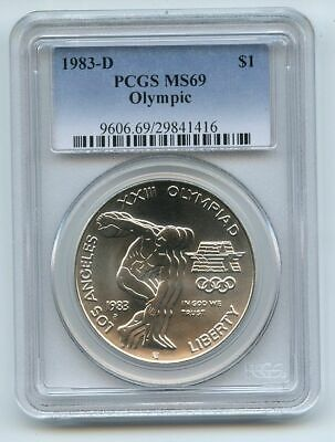 1983 D $1 Olympic Silver Commemorative Dollar PCGS MS69