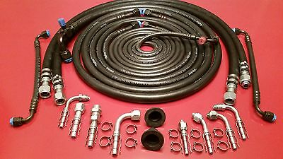Universal A/C Hose Kit, Aeroquip Eaton EZ Clip Fittings, R-134A, Ford Chevy GMC