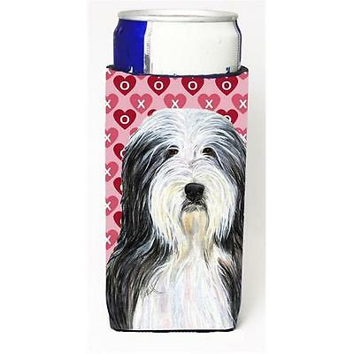 Bearded Collie Hearts Love And Valentines Day Portrait Michelob Ultra bottle ...
