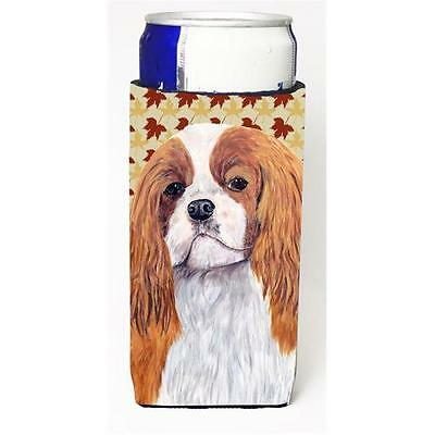 Cavalier Spaniel Fall Leaves Portrait Michelob Ultra bottle sleeve for Slim Can