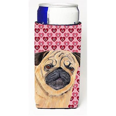 Pug Hearts Love and Valentines Day Portrait Michelob Ultra bottle sleeves for...