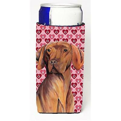 Vizsla Hearts Love and Valentines Day Portrait Michelob Ultra bottle sleeve f...