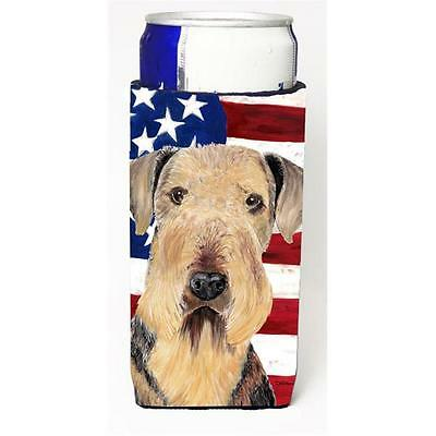Usa American Flag With Airedale Michelob Ultra bottle sleeves For Slim Cans 1...