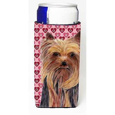 Yorkie Hearts Love and Valentines Day Portrait Michelob Ultra bottle sleeves ...