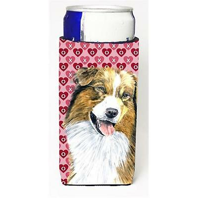 Australian Shepherd Hearts Love Valentines Day Michelob Ultra bottle sleeve f...