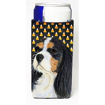 Cavalier Spaniel Tricolor Candy Corn Halloween Portrait Michelob Ultra bottle...