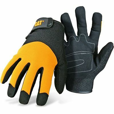 Caterpillar Cat Padded Palm Mesh Back Work Gloves 3X-Large