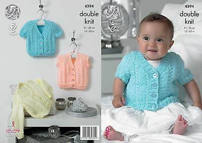 King Cole 4951 Girl/'s Cardigan /& Tunic DK  Knitting Pattern Sizes 21-28/""