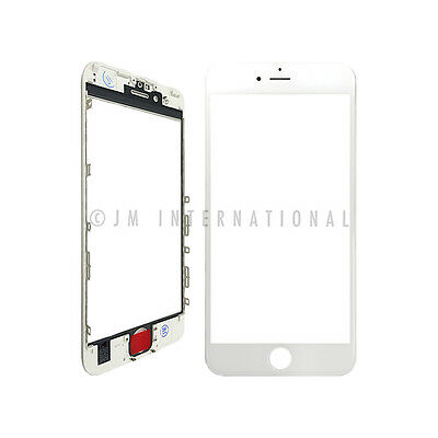 """iPhone 6S 4.7"""" Outer Lens Touch Screen Lens Glass + Frame White Replacement Part"""