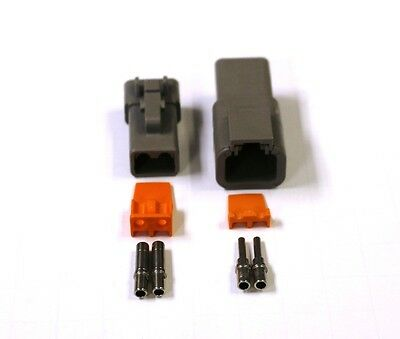 Deutsch DTP 2 Pin Connector Kit 12 GA Solid Contacts 2 Pin