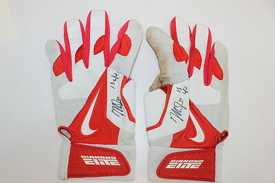 Mike Trout Autographed Game Used 2013 Batting Gloves Pair JSA LOA & Anderson Aut