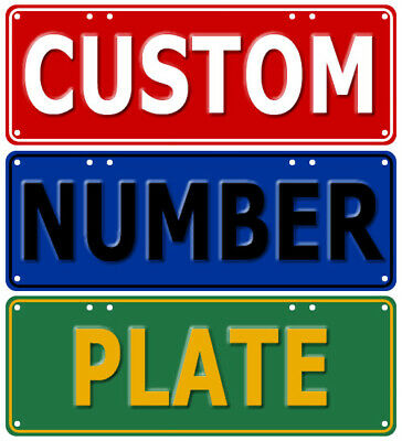 Custom Novelty Number Plate AUS Licence Plate Sign Personalised Gift Car Garage