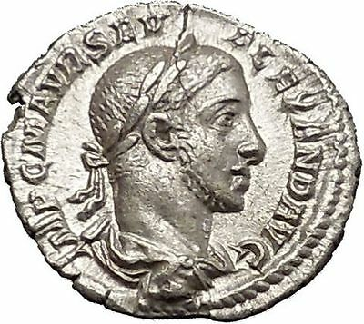 Severus Alexander 227AD Silver Ancient Roman Coin Equality Fairness i51129