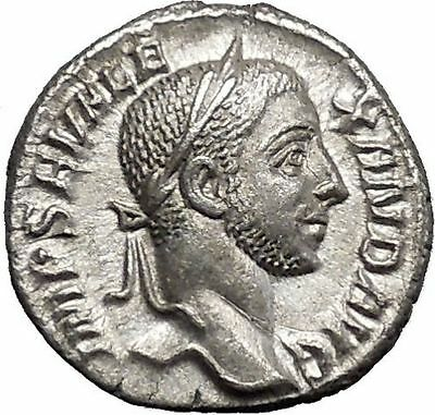 SEVERUS ALEXANDER Rome mint Silver Ancient Roman Coin Liberality Cult  i50012