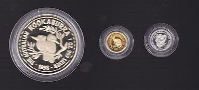 1990 Australian family of Precious Metal Coin Set Platinum Gold Silver C-553