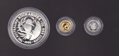 1993 Australian family of Precious Metal Coin Set Platinum Gold Silver C-548
