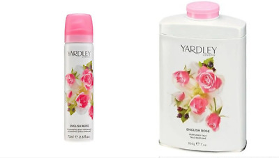 Yardley London - English Rose - 200g Perfumed Talc + 75ml Body Spray