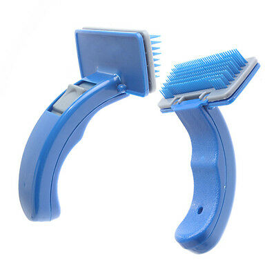 New Grooming Self Cleaning Pet Brush Dog Cat Grooming Trimmer Soft Pin BEST