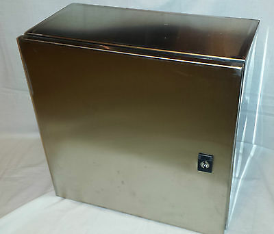 electric enclosure stainless steel 400x400x200mm junction box new and boxed
