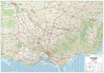 (LAMINATED) Super MAP Of Victoria State Australia Giant POSTER (100x140cm) Wall
