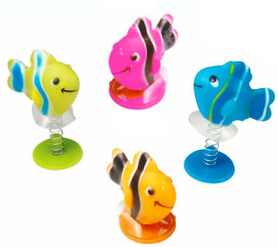 6 Sealife Spring Jump Ups - Fish Pinata Toy Loot/Party Bag Fillers Wedding/Kids