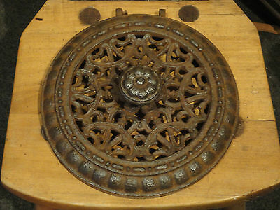Antique Iron Burner Cover Lid For Wood Stove