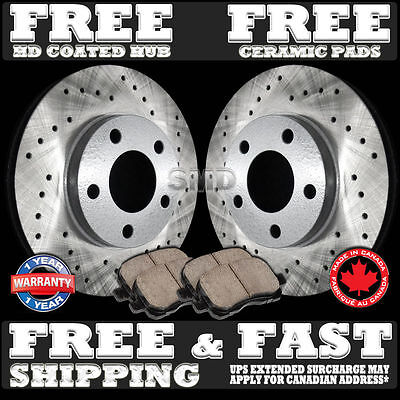 P0887 2006 2007 2008 2009 2010 2011 2012 2013 RAM 1500 Brake Rotors Ceramic Pads
