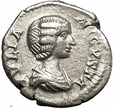 JULIA DOMNA 200AD Rare Ancient Silver Roman Coin Pietas Loyalty Cult i53151