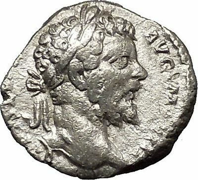 SEPTIMIUS SEVERUS 196AD Ancient Silver Roman Coin Fortuna Luck  i53135